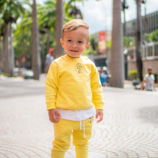 El Verdadero Flowcito Conjunto Sudadera Amarilla